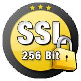 Sicherheit durch 256 Bit Verschlüsselung